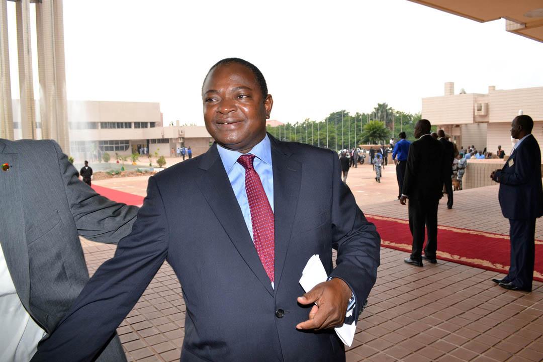 Adama Sangaré maire de Bamako, au CICB de Bamako, septembre 2013