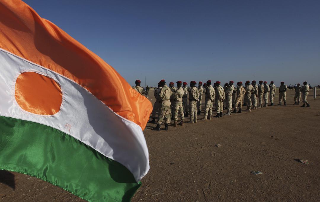 Des soldats nigériens dans la région d'Agadez, en 2011.