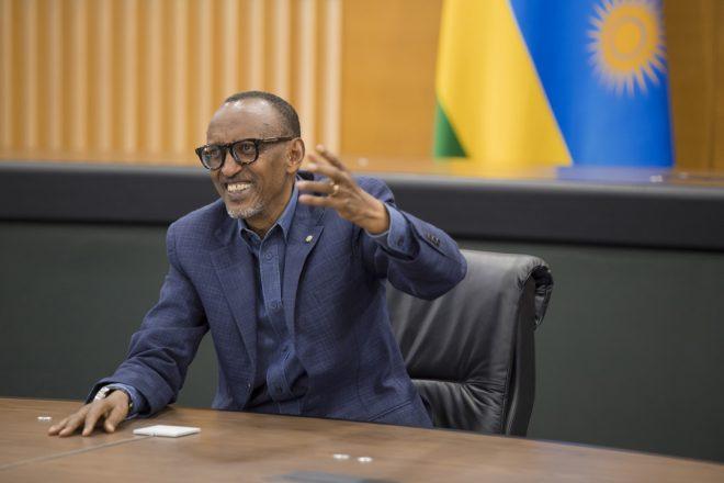 Le président rwandais Paul Kagame pendant son entretien avec Jeune Afrique le 19 juin 2020.