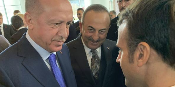 Le président français Emmanuel Macron et son homologue turc Recep Tayyip Erdogan, le 19 janvier 2020 à Berlin.
