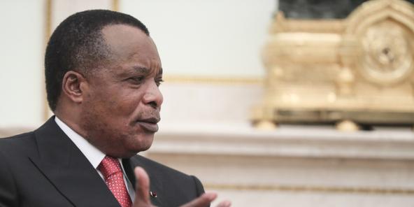 Prezident Denis Sassou Nguesso, v roce 2019.