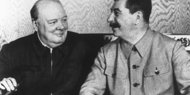 Churchill e Stalin al Cremlino