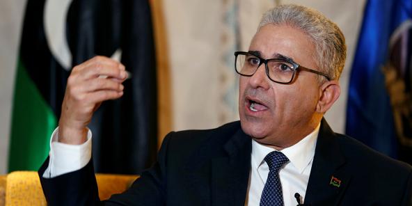 Le ministre libyen de l'intérieur, Fathi Bashagha, à Tunis, le 1er mars 2020.