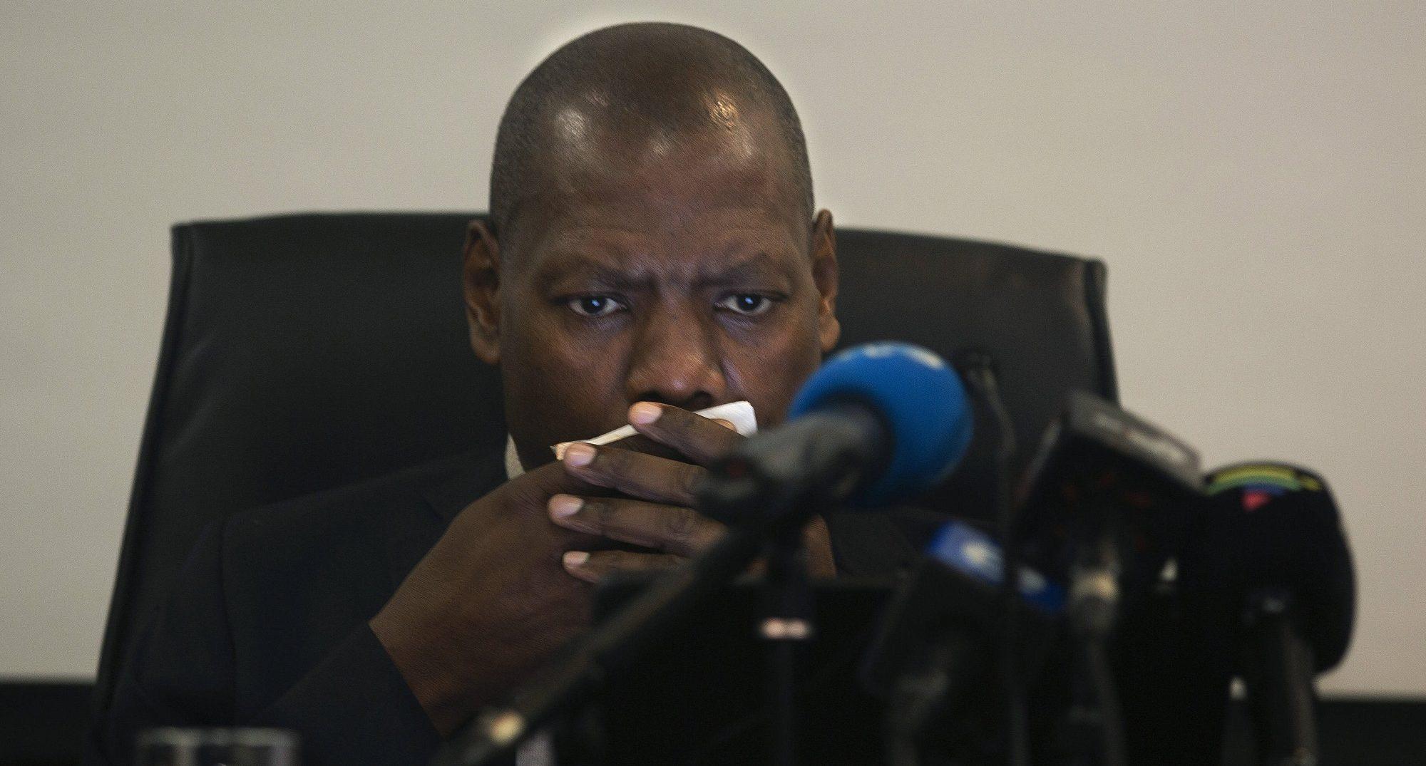 Le ministre sud-africain de la Santé, Zweli Mkhize, à Johannesburg, le 1er mars 2020.