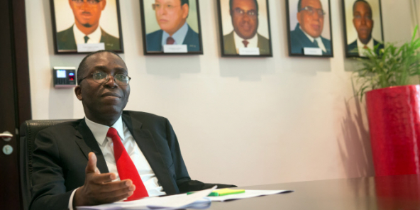 Augustin Matata Ponyo, alors Premier ministre de la RDC, à Kinshasa, le 14 octobre 2014.