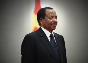 Le président camrounais Paul Biya, le 22 mars 2018.