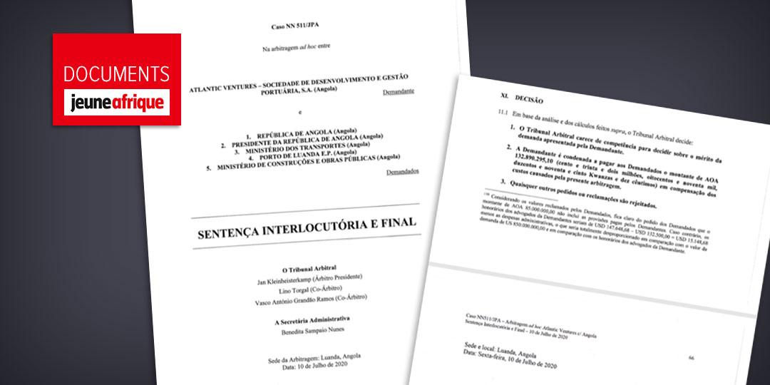 Extrait de la décision du tribunal arbitral de Paris rendue le 10 juillet dernier.