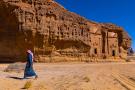 Les tombes du site archéologique d'Al-Hijr, à Madain Saleh.