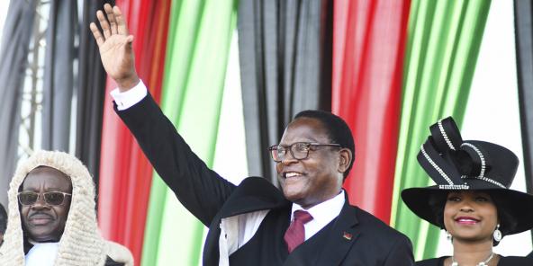 Lazarus Chakwera, président du Malawi, lors de sa prestation de serment Lilongwe, le 28 juin 2020.