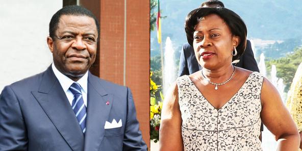 Alain Mebe Ngo'o lors d'une cérémonie officielle à Yaoundé en juin 2018 Mme Mebe Ngo'o Lors d'uen cérémonie au Palais de l'Unité.