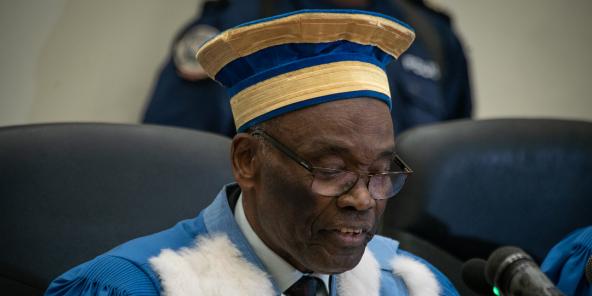 Le président de la Cour constitutionnelle de RDC, Benoît Lwanba, le 19 juin 2019