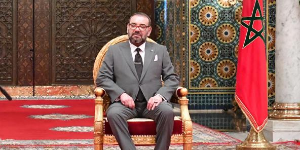 Le roi Mohammed VI, en mars 2020.