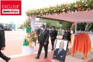 Cérémonie d'hommage de la nation au Premier ministre Amadou Gon Coublibaly, le mardi 14 juillet 2020, au palais de la présidence à Abidjan, en présence d'Alassane Ouattara et de son homologue sénégalais, Macky Sall.