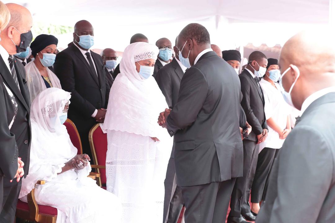 Cérémonie d'hommage de la nation au Premier ministre Amadou Gon Coulibaly, mardi 14 juillet 2020, en présence du président Alassane Ouattara.