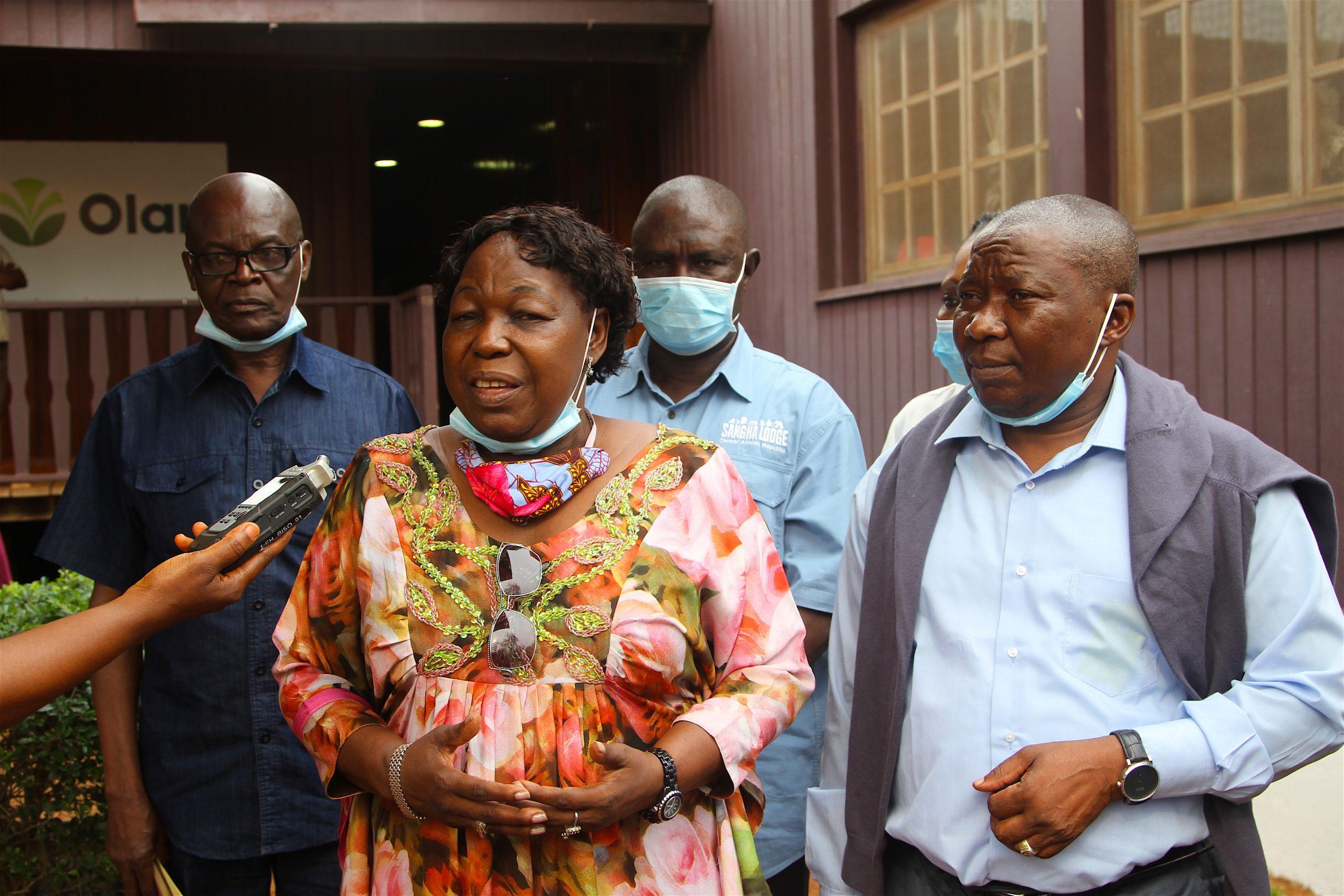 Marie-Noëlle Koyara, la ministre centrafricaine de la Défense, le 5 juillet 2020 à Bangui.