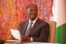 Alassane Ouattara, au palais présidentiel le 29 mai 2020.