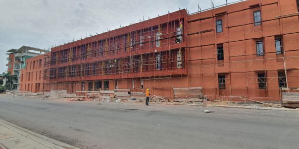 Le chantier de Sèmè-One en avril 2020.