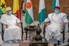 Ibrahim Boubacar Keïta et Mahamadou Issoufou, lors de la rencontre à huis clos qui s'est tenue à Bamako, le 23 juillet 2020.