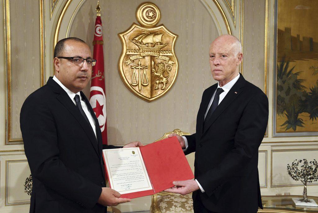 Hichem Mechichi, nommé Premier ministre par le président tunisien, Kais Saied, le 25 juillet 2020.