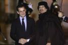 Nicolas Sarkozy et Mouammar Kadhafi, en décembre 2007 à Paris.