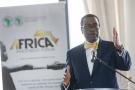 Akinwumi Adesina, lors de l'Africa CEO Forum 2018 à Abidjan.