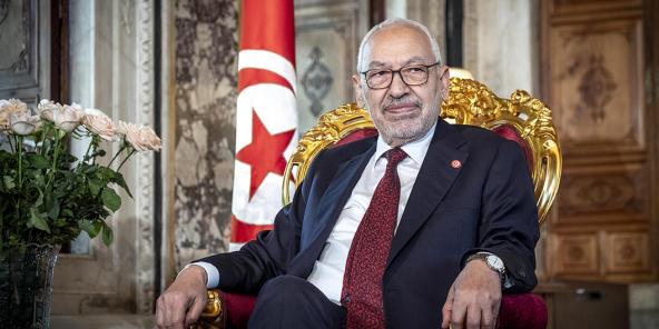 Le Tunisien Rached Ghannouchi, président de l'Assemblée des représentants du peuple, le 21 février 2020.