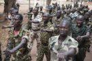 Des militaires des Forces armées centrafricaines (FACA), au Camp Kassai en 2014 (Archives).