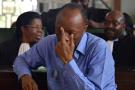 L'opposant congolais Jean-Marie Michel Mokoko lors de son procès, à Brazzaville, le 11 mai 2018.