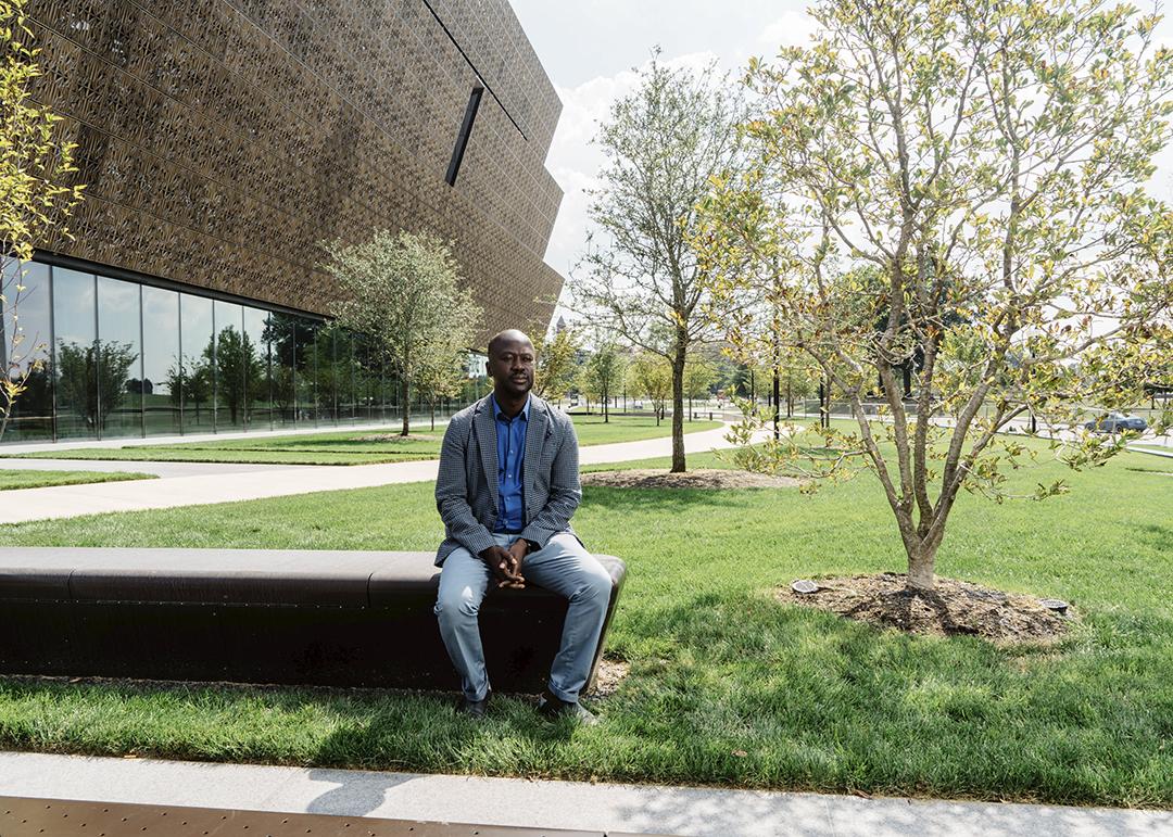 David Adjaye, architecte du musée national de la culture et de l'histoire afroamericaines, a Washington.