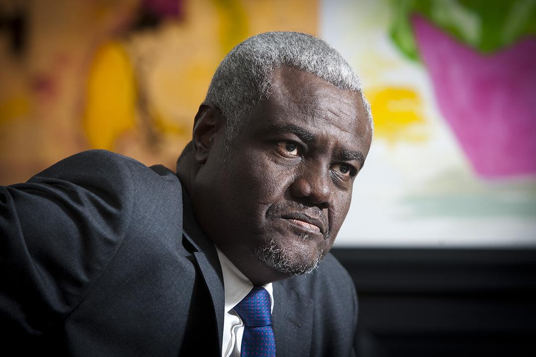 Moussa Faki Mahamat, president de la Commission de l'Union africaine.