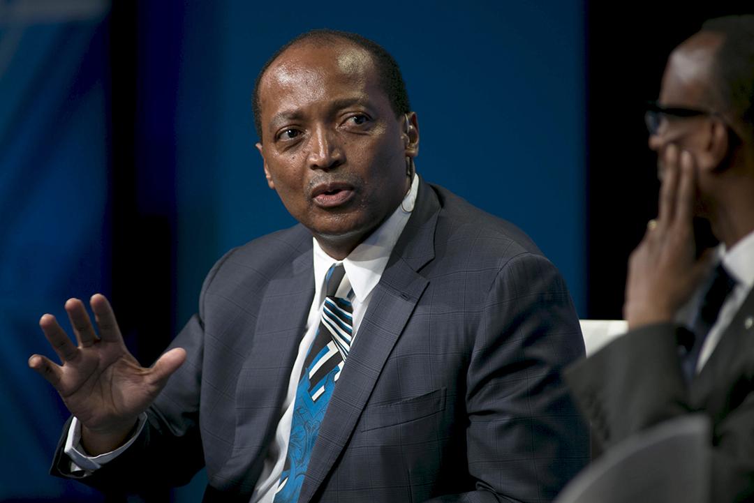 Le milliardaire Patrice Motsepe aux États-Unis, en 2015.