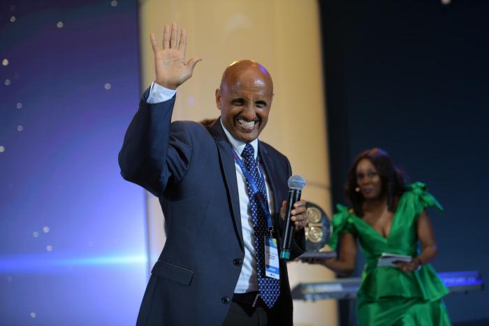 Tewolde GebreMariam, lors du CEO Forum, en mars 2019 à Kigali.