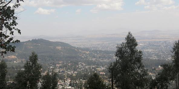 Vue d'Addis-Abeba, la capitale éthiopienne. (image d'illustration)