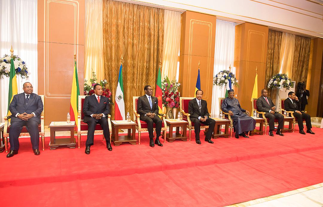 Lrs chefs d'État lors d'une reunion de la Cemac à Yaounde en novembre 2019.© MABOUP
