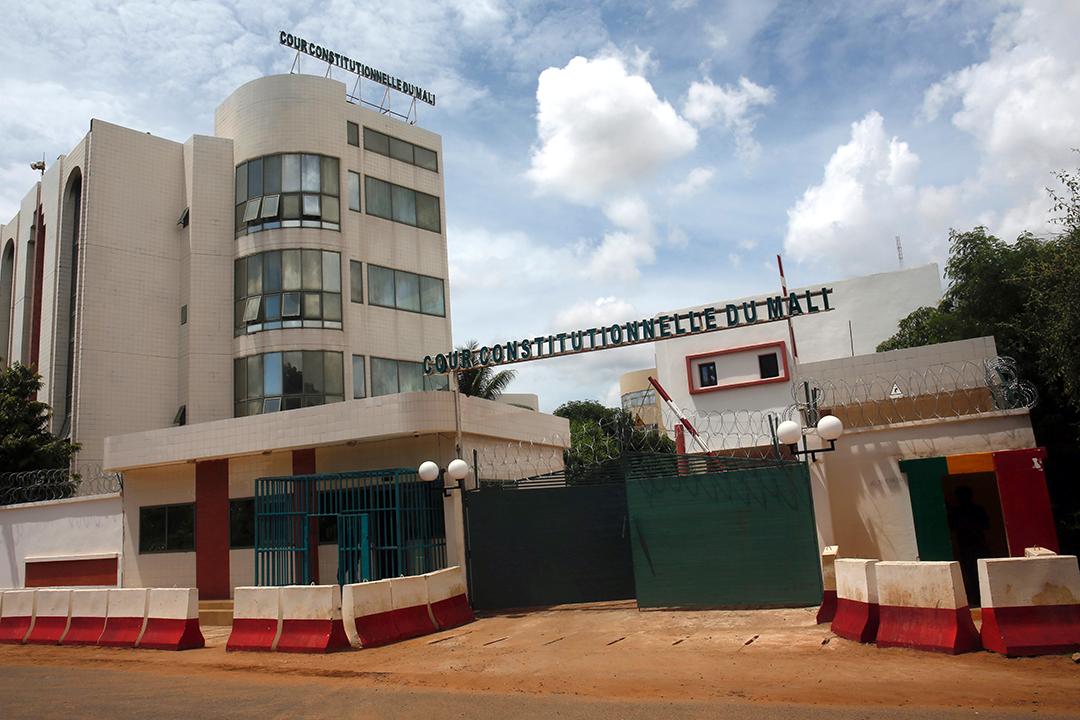 Le bâtiment de la Cour constitutionnelle, à Bamako, en 2018.