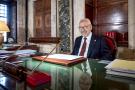 Rached Ghannouchi, président de l'Assemblée des Représentants du peuple, dans son bureau, le 21 février 2020