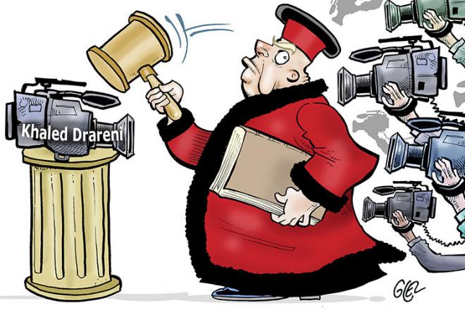 [Chronique] Le système judiciaire algérien a transformé Khaled Drareni en symbole
