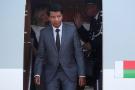 Andry Rajoelina à son arrivée au sommet Russie-Afrique, à Sotchi, le 22 octobre 2019.