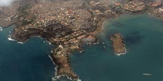 Vue aérienne de la capitale du Cap-Vert, Praia