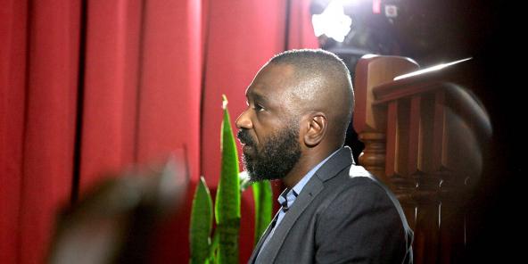 José Filomeno Dos Santos lors de l'ouverture de son procès, le 9 décembre 2019 à Luanda.