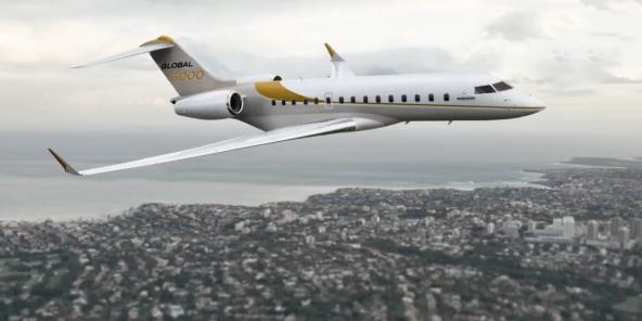 Le jet Bombardier global 6000, du même modèle que celui bloqué par la justice canadienne (Capture video promotionnelle)