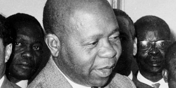 Léon Mba, en avril 1964.