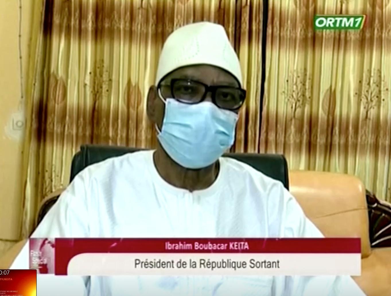 Ibrahim Boubacar Keïta a annoncé sa démission dans la nuit du 18 au 19 août 2020, après avoir été arrêté par des militaires.