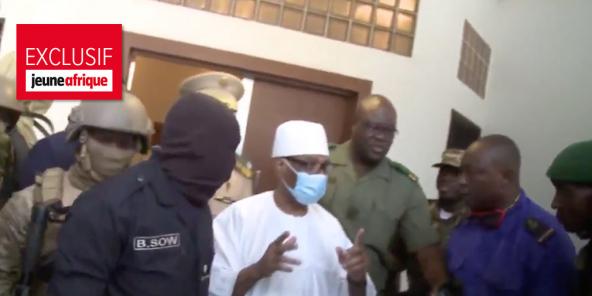 Ibrahim Boubacar Keïta , lors de son arretsation, le 18 août 2020.