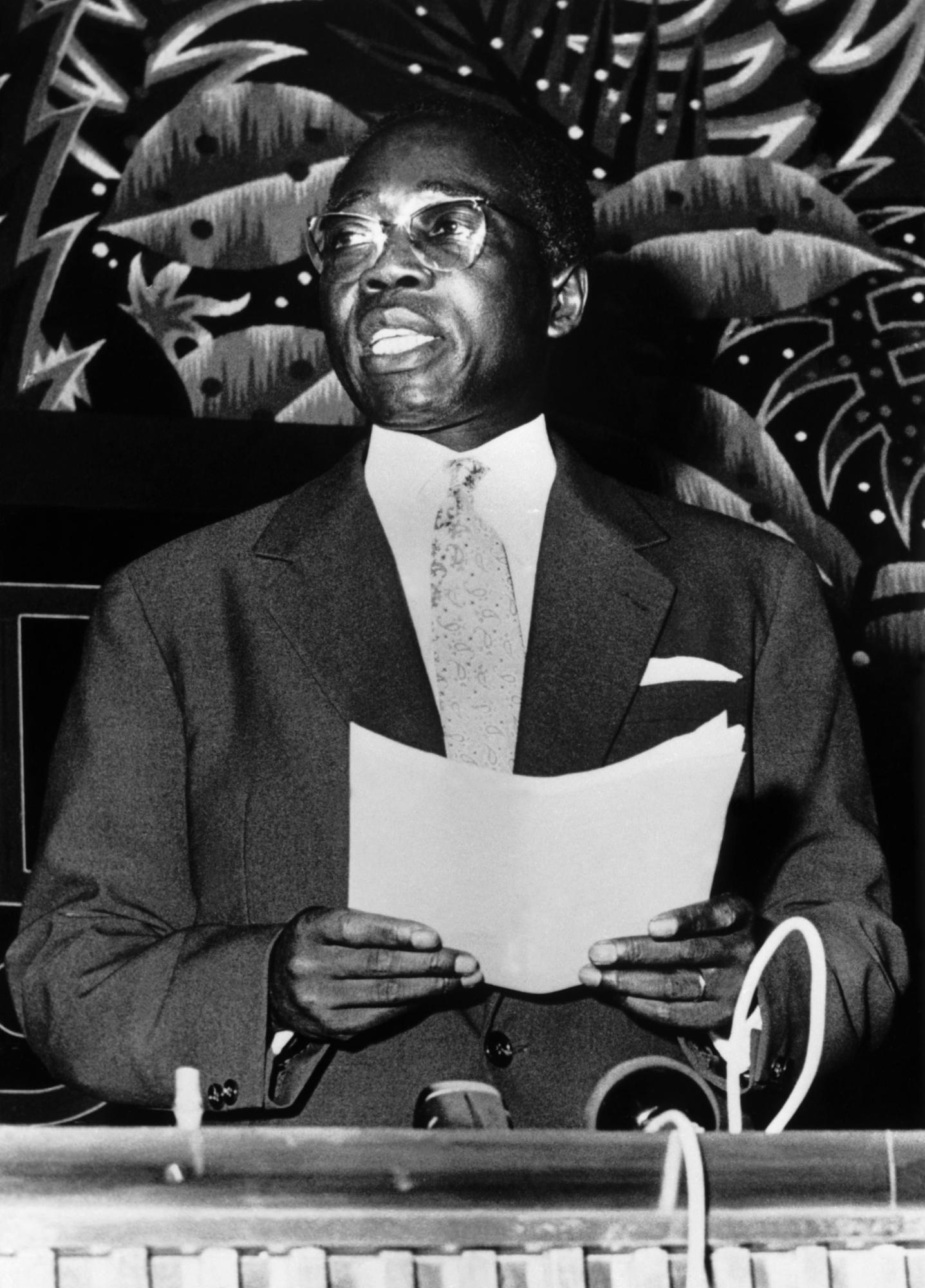Léopold Sédar Senghor, lors de son discours du 20 juin 1960.