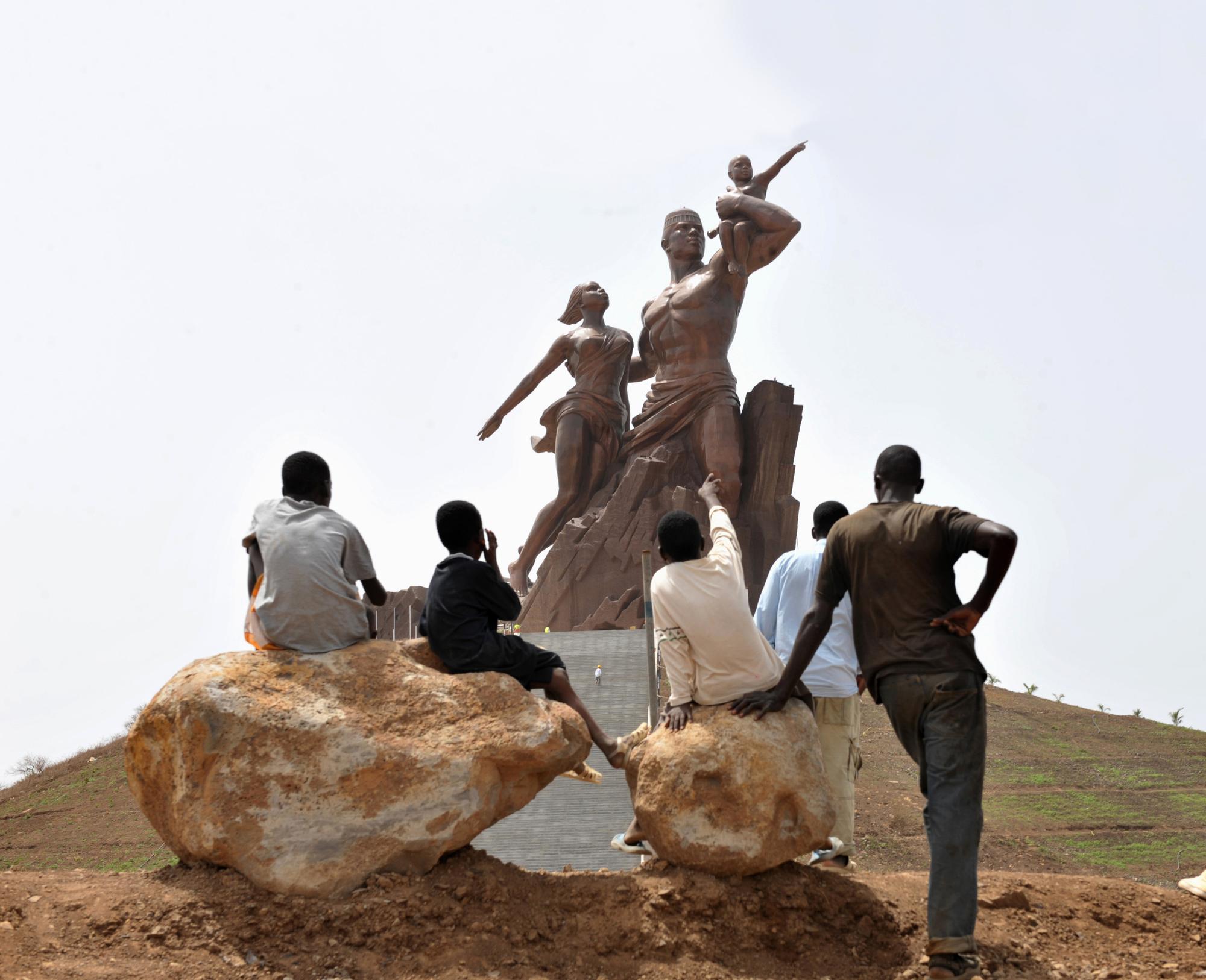Inauguration du gigantesque monument de la Renaissance africaine, à Dakar, en avril2010.