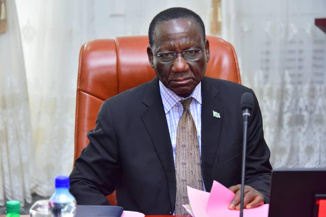 Le Premier ministre congolais, Sylvestre Ilunga Ilunkamba, lors du conseil des ministres du 29 novembre 2019.