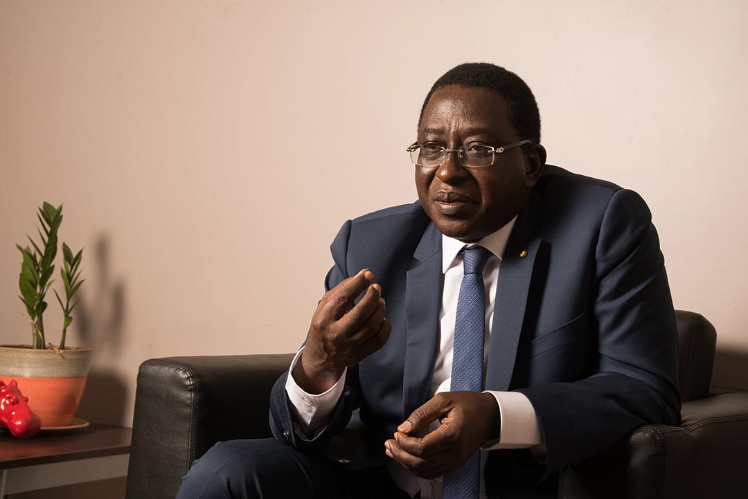 Soumaïla Cissé, le 15 juin 2018 à Bamako.