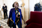 La députée Danièle Obono à l'Assemblée nationale, à Paris, en octobre 2018