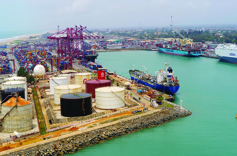 Port de Cotonou.